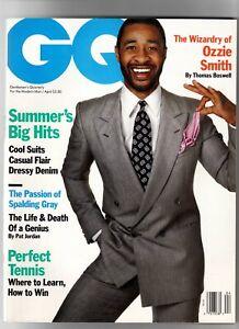 Ozzie Smith GQ magazine April 1988