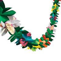 Garland Tropical Hawaiian Luau Party Decorations Flowers Tissue Flower Decor