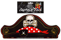 12 Pirate Paper Hats - Pinata Toy Loot/Party Bag Skull Black Pinata Black Kids