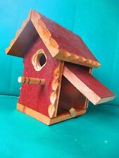 NEW hand made wooded  BIRDHOUSE /  BIRD HOUSE hand crafted SOLID stained WOOD