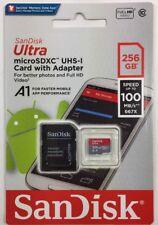 SanDisk 256 Go Ultra 100MB/s Class 10 Micro SD SDXC Mémoire. nouvelle carte