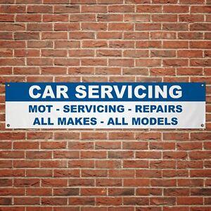 MOT Servicing Banner Garage Workshop PVC Sign Mechanic Car Display