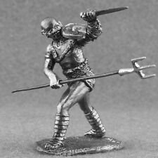 Roman Toy Soldiers Gladiator Retiarius 1/32 Carry Ancient Rome Tin 54mm Metal
