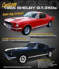 1965 SHELBY GT350 TWO CARS #'S MATCH # 378  RED/WHITE  BLACK/WHITE ACME 1:18 GMP