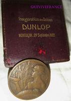 MED9332 - MEDAILLE INAUGURATION USINES DUNLOP MONTLUÇON 1922 par BAUDICHON