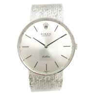 ROLEX GENEVA Cellini Ref.3833 Men's Manual-winding Wristwatch Watch WG RK14655