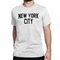 New York City Unisex T-Shirt Screenprinted White Lennon Tee