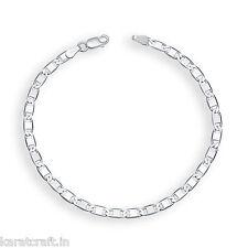 Karatcraft.In 925 Sterling Silver Flat Link Style Bracelet- OSA0011