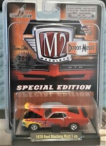 M2 MACHINES 1970 FORD MUSTANG MACH 1, DETROIT-MUSCLE SERIES, 2009 MFG YEAR
