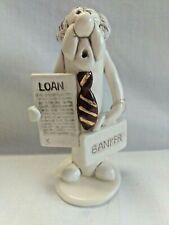 Tweeples World by Joe Peck Banker Male Loan Officer Ceramic Figurine Whistle