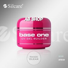 Base One Thick Clear 50g UV Gel Nails Acid Free Builder File Off Gel Silcare