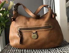 Genuine Mulberry Somerset pebbled Tan Leather Shoulder Bag Hobo Handbag