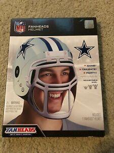 NFL Dallas Cowboys FANHEADS HELMET New in Box - ADJUSTABLE SIZE Cardboard Helmet