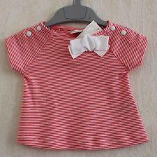 Neuf : Tee-shirt PETIT BATEAU 3 mois milleraies blanc rose corail bébé fille