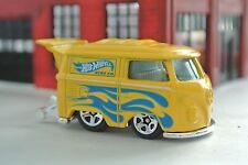 Hot Wheels VW Short Bus Kool Kombi - Yellow w/ Flames - Loose - 1:64