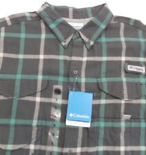 Mens Columbia Bonehead Flannel Long Sleeve Shirt xl extra large NWT