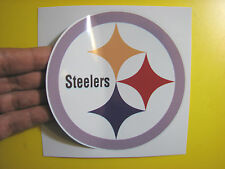 """BEST PRICE!! LOT OF 10 NFL DECAL / STICKER PITTSBURGH STEELERS 5"""" X 5"""""""