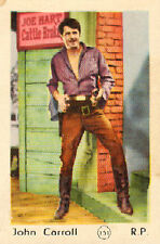 DUTCH MOVIE STAR GUM CARDS - No. 151 JOHN CARROLL