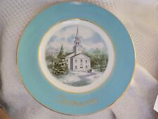 "Vintage Christmas Collector 1974 Plate 2nd Edition ""Country Church"""