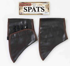 SteamPunk Cosplay Victorian Brown Suede Shoe Spats Tops Adult Costume New Sealed