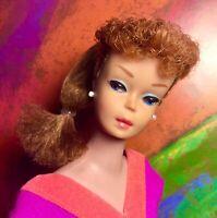 Vintage Barbie #6 6 Ponytail Titian Titan Redhead MAXIMUM GLAM!