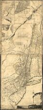 """10"""" x 24"""" 1775 Map Of The Provinces Of New York & New Jersey With Parts Of Pe"""