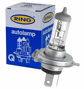 2 X Ring R472 H4 12V 60/55W Headlight Car Bulbs