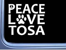 "Japanese Tosa Peace Love L674 Dog Sticker 6"" decal"