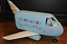 Vintage Barbie 1999 Mattel Mexico 22007 Blue Jumbo Jet Airplane Plane