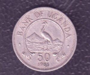 UGANDA 50 CENTS 1966