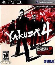 Yakuza 4  (PS3) Complete FAST SHIPPING Mature