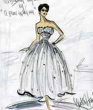ELIZABETH TAYLOR  COSTUME SKETCH -A PLACE IN THE SUN  -EDITH HEAD  ONLY - -$6.99