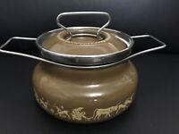 Vintage Depositata Siltal Italy Enamelware Cookpot New. 44OZ
