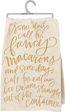 Primitives By Kathy Flour Sack Dish Towel ~ Some Days Call For Ice Cream ~