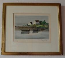 """Litho original.Marine Bretagne""""Bord de mer""""de Georges Laporte (1926-2000)150/150"""
