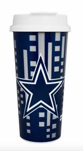 Brand NEW NFL Licensed Dallas Cowboys 16oz Coffee Travel Mug Tumbler Free Shippi