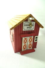 Red Firehouse Engine No. 9 Collectible Musical Box w/Movement
