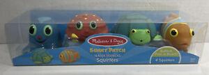 Sunny Patch, Seaside Sidekicks Squirters, Melissa & Doug, set of 4 Squirters
