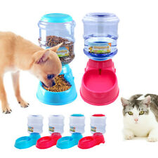 Cat Dog Automatic Water Fountain Feeder Food Dispenser Set Dishes Pet Bowls 3.5L