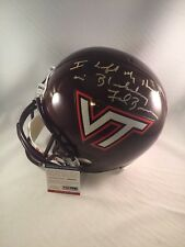 FRANK BEAMER SIGNED VIRGINIA TECH HOKIES FULL SIZE HELMET PSA DNA RARE 1/1 INSCR