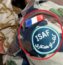NATO ISAF JSOC FRENCH SP OPS PARATROOPER AFGHANISTAN: Flag + ISAF INSIGNIA 2008