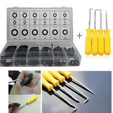 4x O Ring Seal Gasket Pick Hooks Puller Remover Tool+225pc O-ring Assortment Kit