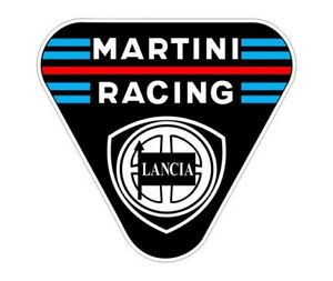 Sticker plastifié LANCIA Delta MARTINI RACING - 7cm x 6,5cm