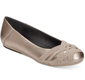 NEW AEROSOLES Women's Spin Cycle Slip-On Flats Size 7.5 M Soft Gold $68