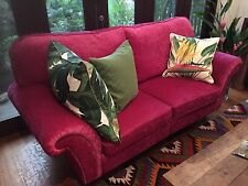 Fabulous Designer Royal Fuchsia Sofa - Can be separated into two!