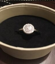 Links Of London Silver & Diamond Pave Ring Size 52 L BNIB