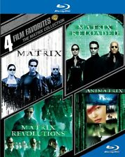 4 Film Favorites Matrix Collection New Blu-ray Matrix 1 2 3 + The Animatrix