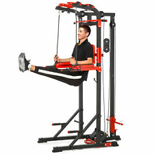 HOMCOM  Pull Up Bar Station Power Tower Home Multi Gym Traning Workout