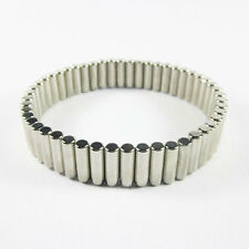 Power Magnetic Therapy NdFeB Neodymium Magnet Bracelet Removable Silver 8.5""