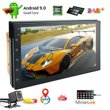 "7"" Touch 4-core Android9.0 Car Stereo MP5 Player GPS FM Radio WiFi BT/AUX+Camera"